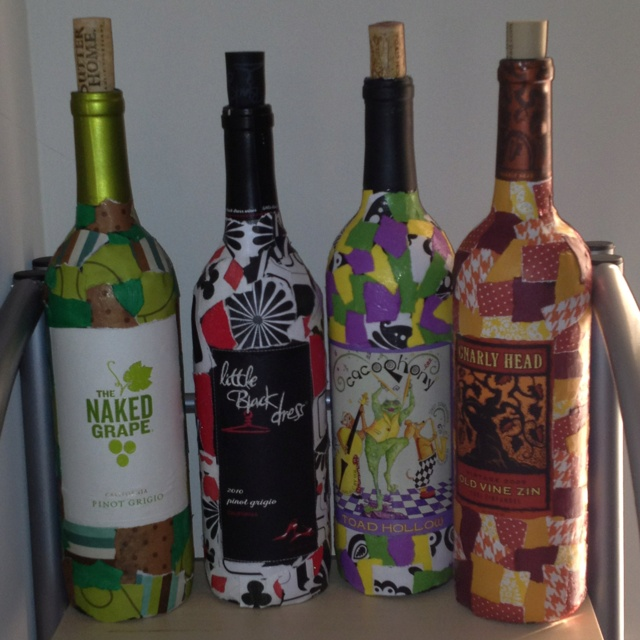 Wine Bottle Crafts Pinterest