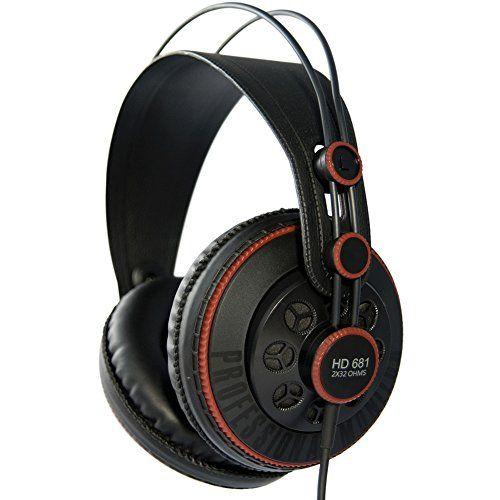 Superlux HD 681 Dynamic Semi-Open Headphones  Dynamic  50mm Neodymium Drivers Circumaural  Semi-Open Design  Self-Adjusting Headband  Lightweight and Comfortable Fit