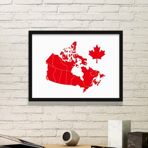 Red Maple Leaf Symbol Canada Country Map Simple Picture Frame Art Prints of Paintings Home Wall Decal #PictureFrame #Red #ArtPrints #MapleLeaf #DecorativePainting #Symbol #SimpleDesign #Canada #HomeDecoration #Country #WallDecal #Map #PrintPainting