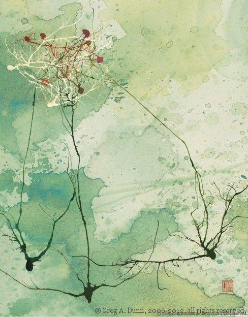 Greg Dunn , las neuronas y el arte japones