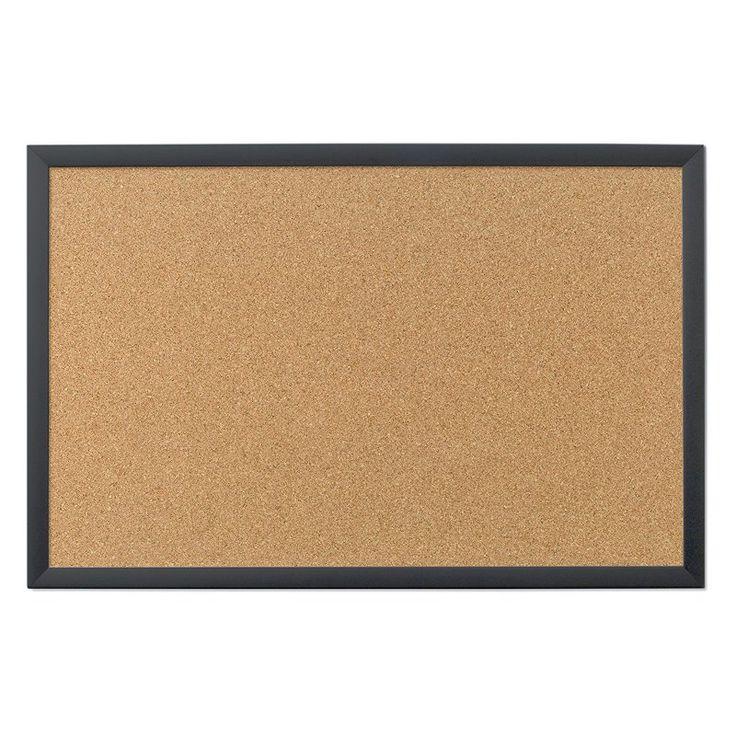 U Brands Cork Black Bulletin Board - 301U00-01