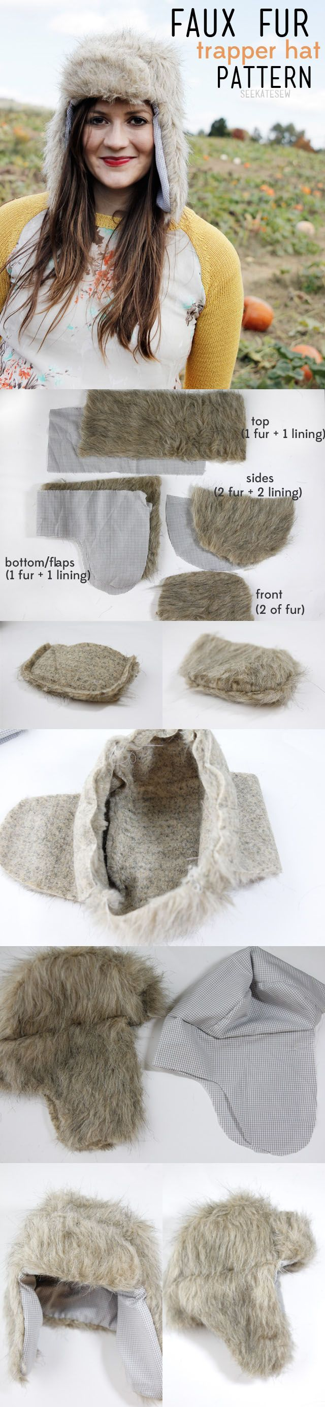 DIY Winter Crafts...I've been telling my co-workers I'm going to show up in a big fury Russian hat for years, this is close;)