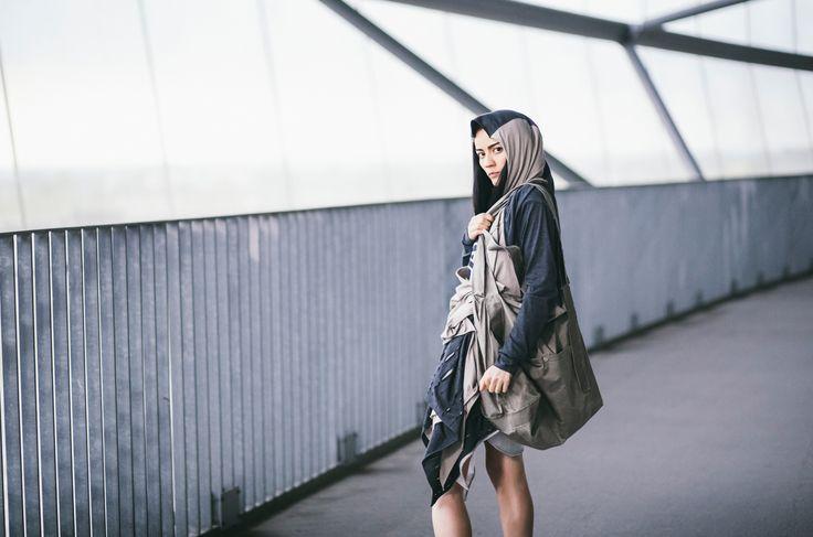 CUB lookbook spring/summer 2014 #polishfashion #fashion #cub #cub_wear #summer #cotton #natural #wild #grey #black #girl #concrete #industrial #look #city #dress #free #warior #wolf #logo #tunic #move #wildspirit #bigbag #carryme