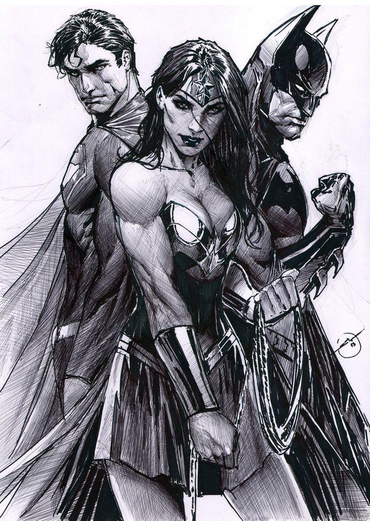 Trinity by Stjepan Sejic done in ballpoint pen. Amazing!