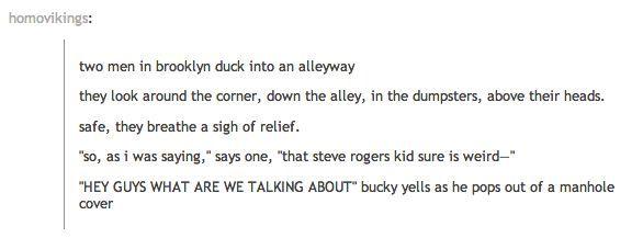 Lol Bucky!