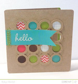 Hi Bubbles *Card Kit Only* by RobynRW at Studio Calico  using the Block Party card kit