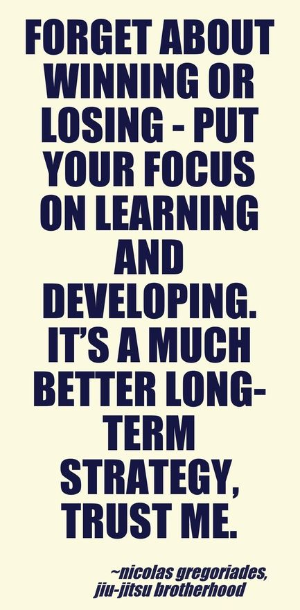 """""""Forget about winning or losing - put your focus on learning and developing. It's a much better long-term strategy, trust me."""" Run it Out"""