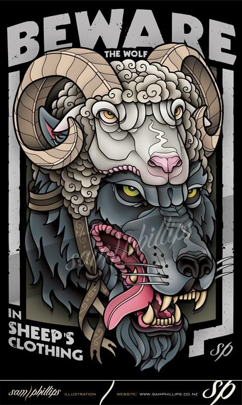 Tattoo inspiration... wolf in sheeps clothing