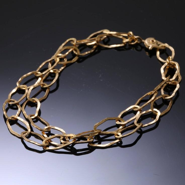 Mirisa/Link ブレスレット ゴールド 14490yen 鎚目模様がアクセントの2連ブレスレット