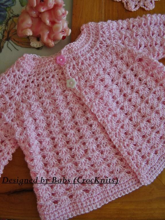 Crochet Cardigan Free Pattern Via Ravelry : 278 best images about tejidos bebe on Pinterest Free ...