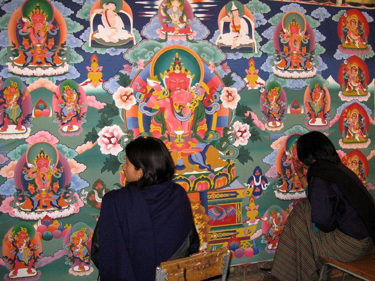 Kết quả hình ảnh cho bhutanese thangka painting