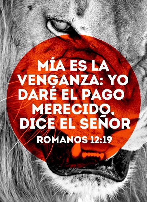 """""""mía es la venganza; yo daré el pago merecido, dice el señor"""" - Romanos 12:19 #bible #readandlive"""