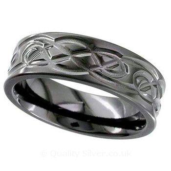 Geti Black Zirconium Knot Ring