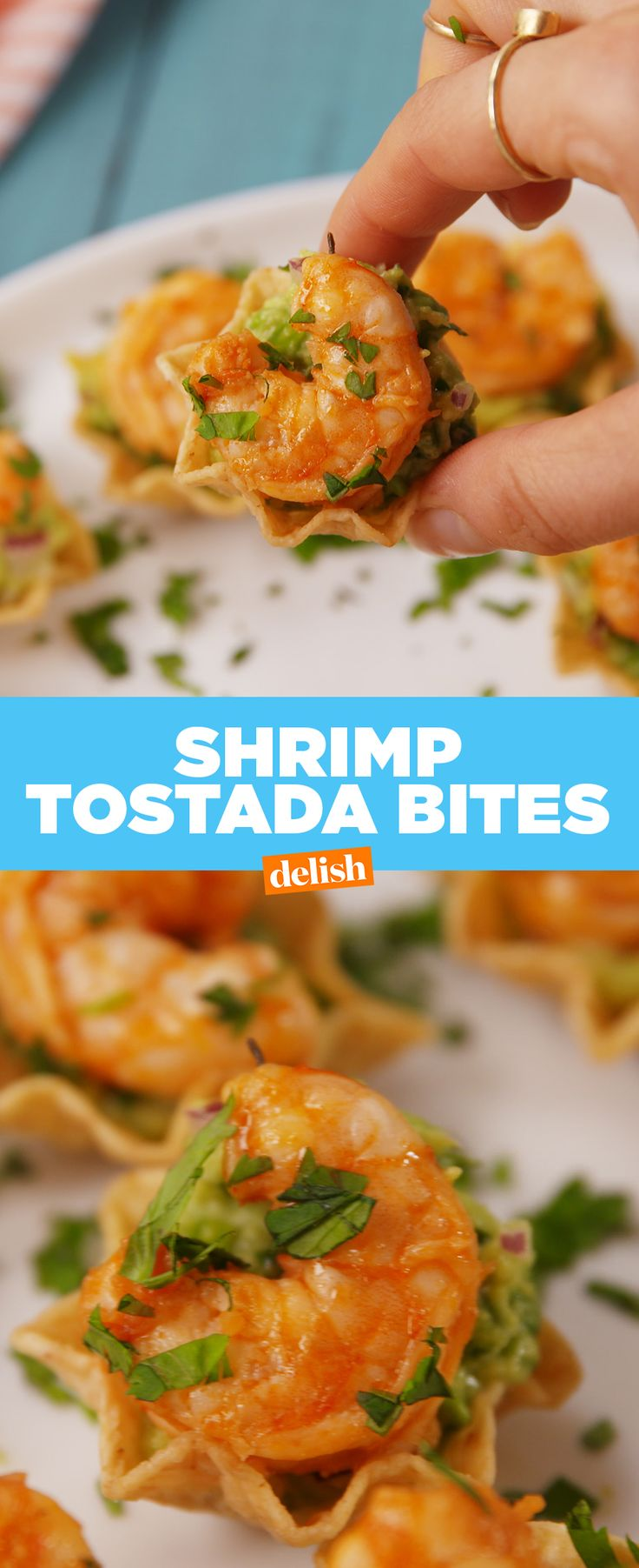 Shrimp Tostada Bites are the easiest app to serve at your summer cookout. Get the recipe from Delish.com.