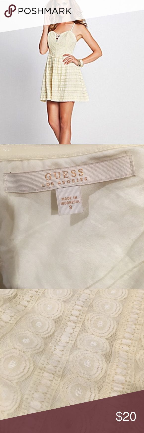 Guess dress - size 8 Very pretty lace, great condition. Guess Dresses Mini