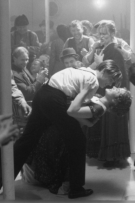 Kate Winslet as Rose DeWitt Bukater and Leonardo DiCaprio as Jack Dawson - 'Titanic', 1997.