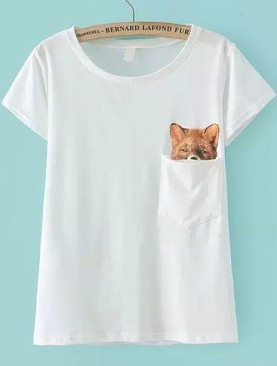 camiseta bolsillo zorro-blanco 10.40