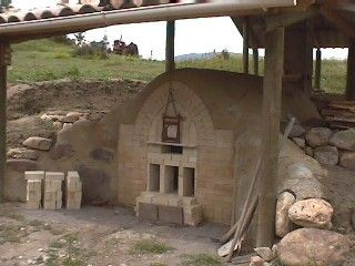 Michel Cohen's wood-fired kiln, Eybierg pottery, in the High Alps, France