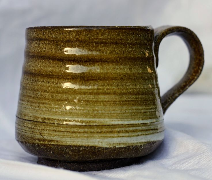 Hi fired stoneware mug, slip decorated by FireonClay on Etsy