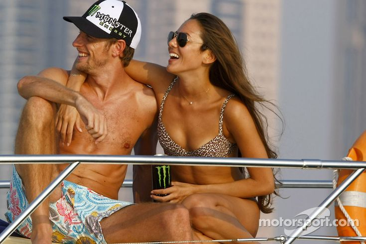 Jenson Button and Jessica Michibata are spending time together on a cruise around the marina in Dubai