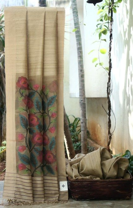 Unique Jamdani Weave Matka Silk Saree