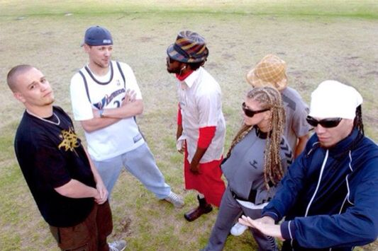 Hilltop Hoods and Black Eyed Peas, early 2000s.
