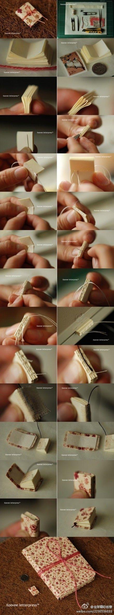 Cómo hacer libros en miniatura - how to make the little books
