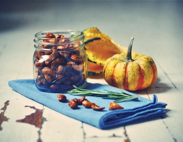 maple rosemary glazed cashews | Gluten Free Goodness | Pinterest