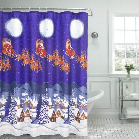 Home Shower Curtains Walmart Creative Home Holiday Shower Curtains