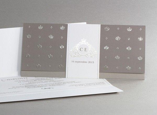 faire part mariage chic élégant ivoire chocolat taupe / Planche d'inspiration mademoiselle cereza blog mariage