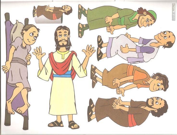 De lamme man door het dak / Jesus+cura+paralítico+q+entra+pelo+telhado