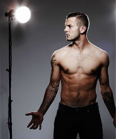Jack Wilshere - fit and shirtless soccer player