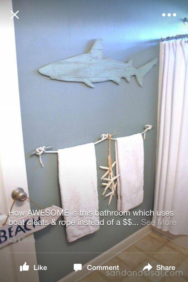 Shark theme bathroom