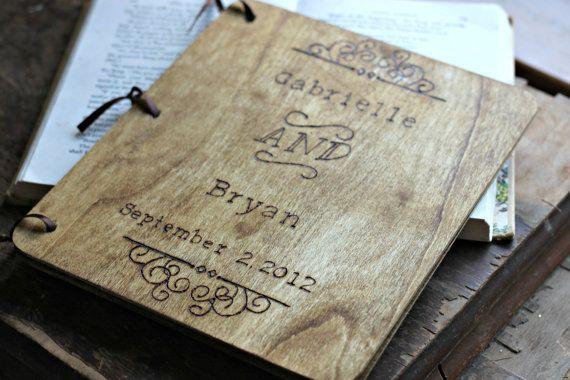 Gastenboek bruiloft-gastenboek rustieke door LazyLightningArt