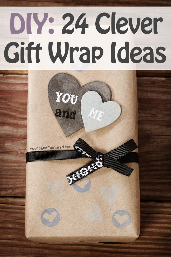 Some really cute and clever ways to gift wrap using things you already have around the house!