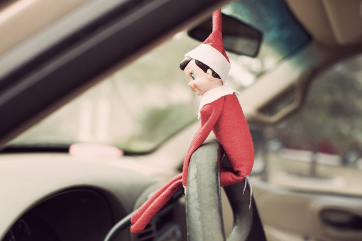 My brother did this last year for my neice.  You park the car crazy in the driveway and put donuts in the front seat.  The child thinks the Elf drove the car to go and get donuts.
