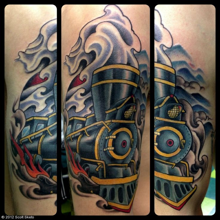 161 Best Images About Train Tattoo On Pinterest Traditional Old Trains And Train Tracks