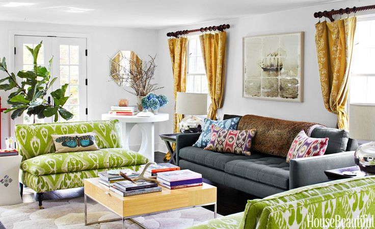 Green Living Room Site Housebeautiful Com