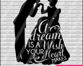 Once upon a dream Quote DIY Cutting File  SVG PNG by PBJnCompany