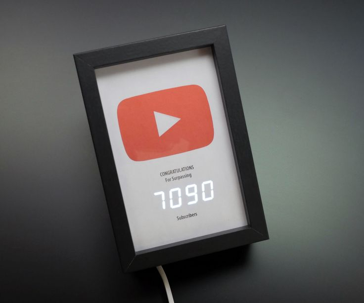 I was inspired by the Play Button awards YouTube sends out for subscriber milestones and whipped up a simple circuit using an ESP8266 wifi board and seven segment display to show off my realtime subscriber count. This is a great IoT beginner project, with just a little soldering and a code personalization required to make it work for your own account.Before attempting this project, you should be generally familiar with uploading new programs to your Arduino board and installing code…