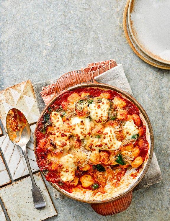 Tomaten-, Spinat- und Mascarpone-Gnocchi