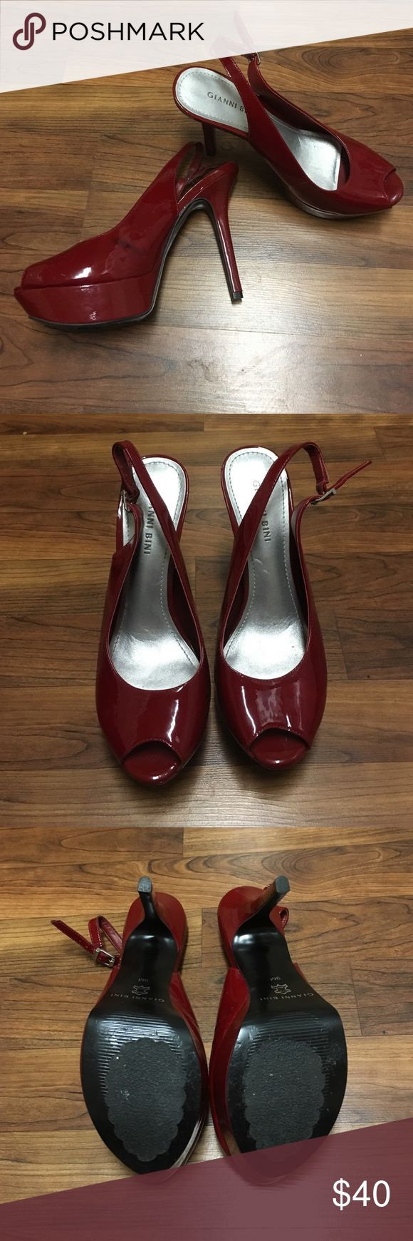 Gianni Bini Red Platform Pumps Red Platform Pumps (worn once for formal) very comfy! Gianni Bini Shoes Platforms