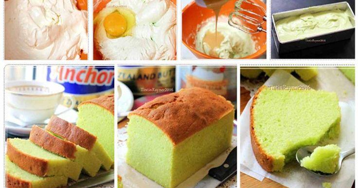 Cake Pandan Lembut. Hanya 7 bahan.