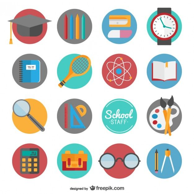 back to school icon set free vector resume