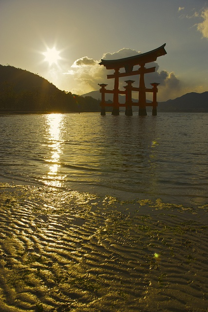 Itsukushima shrine, Hiroshima, Japan**. Wonder if this is a memorial shrine for those who died from atomic bomb?