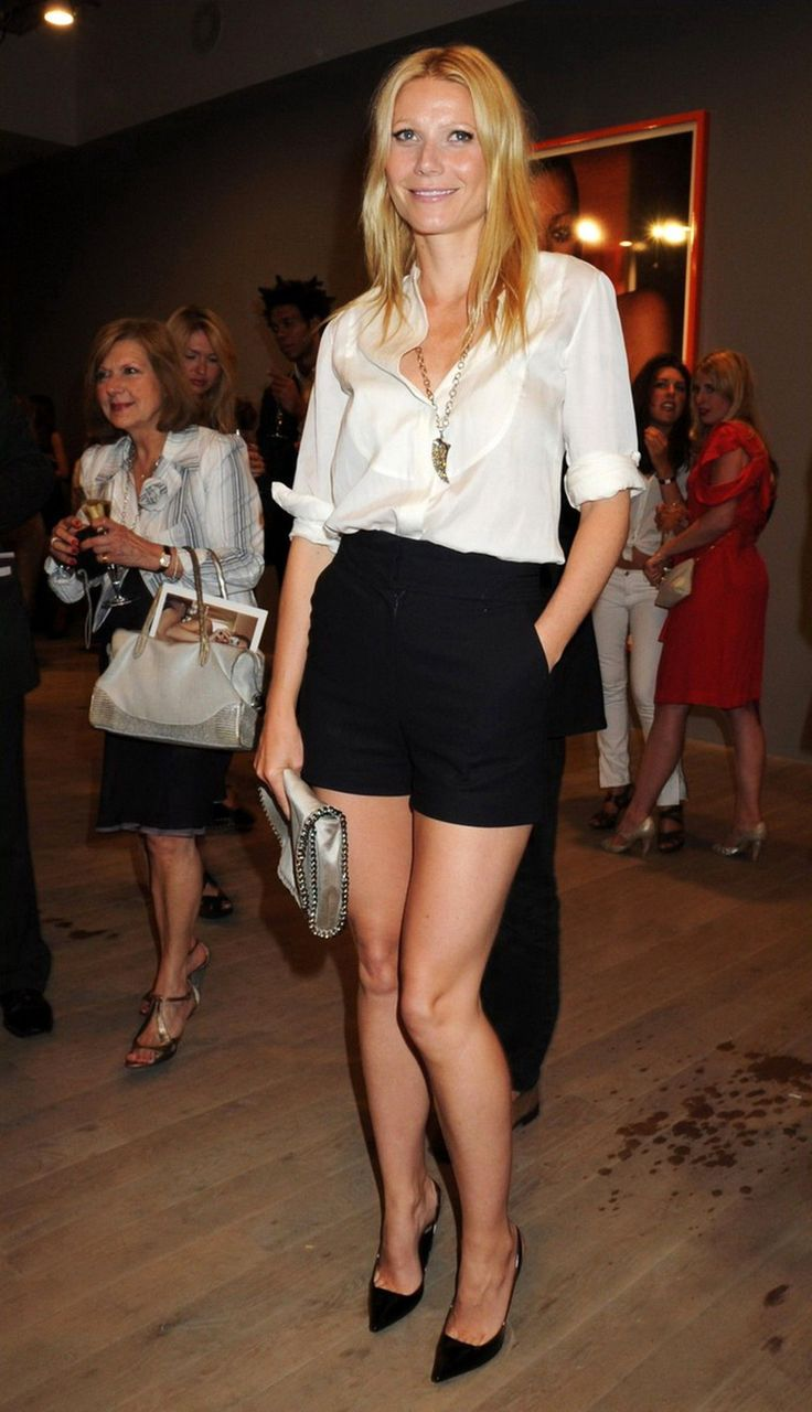 item one: crisp whites, item two: dressy black shorts, couple with a pair of heels and it's a great night out look.