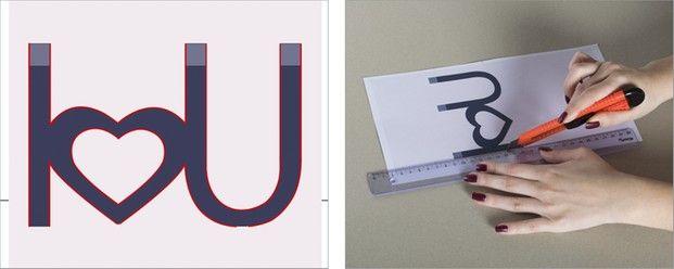 Schritt 3: Entlang der Roten Linien mit dem Cuttermesser schneiden