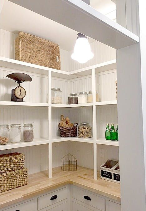 perfect style,,, shallow shelves great - butcher block style counters...