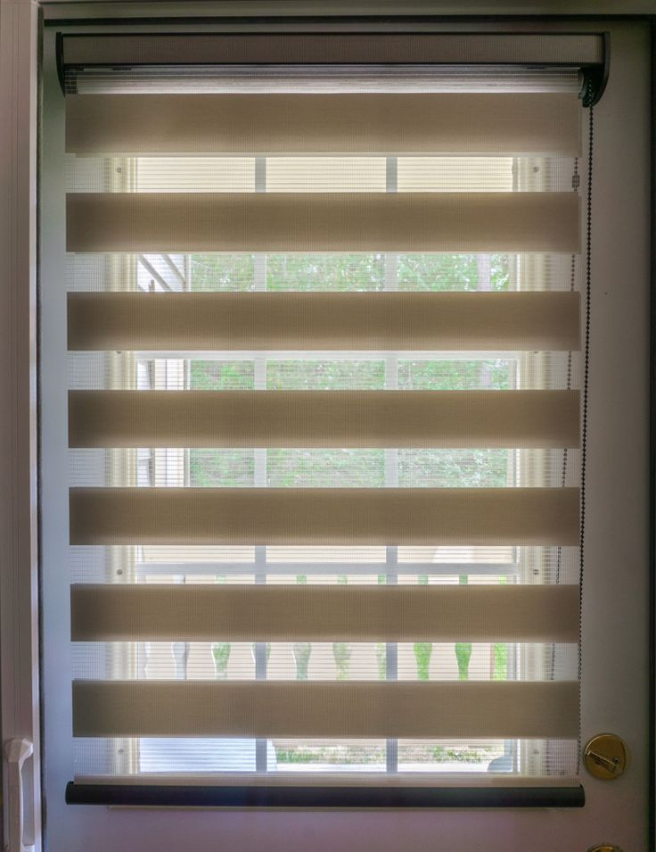 Sheer Shades I Suitable for any application including a back door. Contact us to set up your consultation.