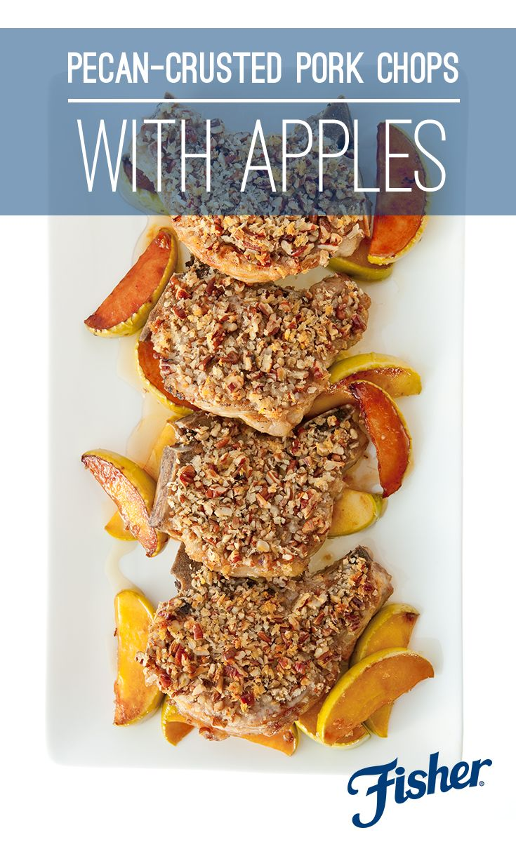 Wanting to try a tasty new dish for dinner? Alex @Guarnaschelli's Pecan Crusted Pork Chops with Apples is a must. The crunchiness of the pecans compliments the flavorful pork chops, making it an amazing combination. Add in the tender, skillet-cooked apples and it's the perfect fall dinner.